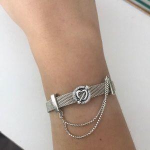 pandora reflexions mesh bracelet charms
